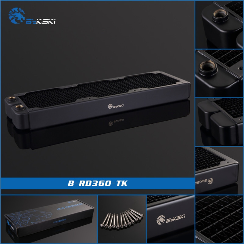 BykskiB-RD360-TK, 360mm Single Row Radiators, 38mm Thickness, Standard Water Cooling Radiators , Suitable For 120*120mm Fans 520w cooling capacity fridge compressor r134a suitable for supermaket cooling equipment