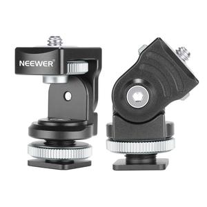 Neewer Camera Hot Shoe Mount Adapter Monitor Holder, 360° Panoramic and 120° Tilt Rotation for LED Light/Monitor Phone Clip