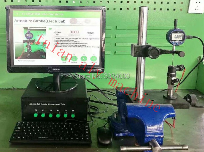 цена на CR3-C Common Rail Injector valve stroke measuring system, common rail test bench
