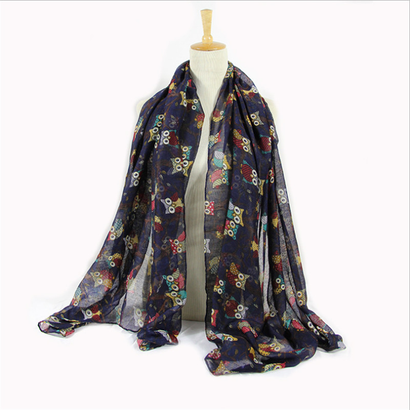 Новый Сова животных печати бесконечности Для женщин Шарфы для женщин большой Повседневное шарф для женщин Outerdoor бандана платки Femme Cachecol