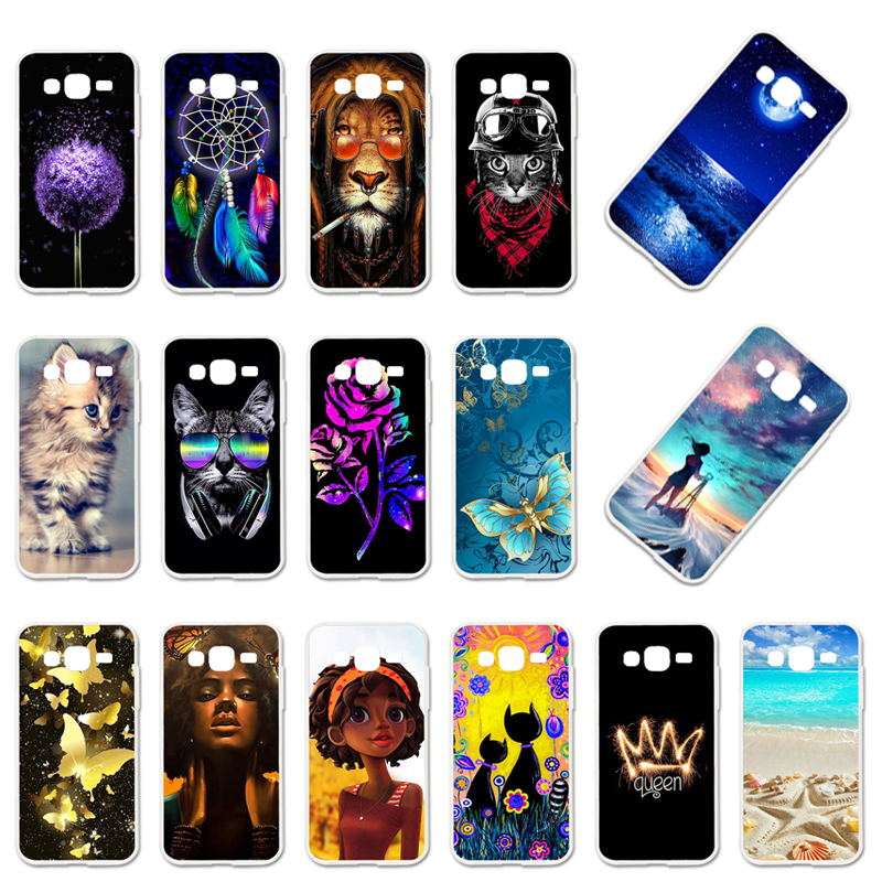 TaryTan Soft TPU Case For Samsung Galaxy J2 Prime Case Grand Prime 2016 SM-G532F Silicone Shell DIY Painted Phone Back Cover image