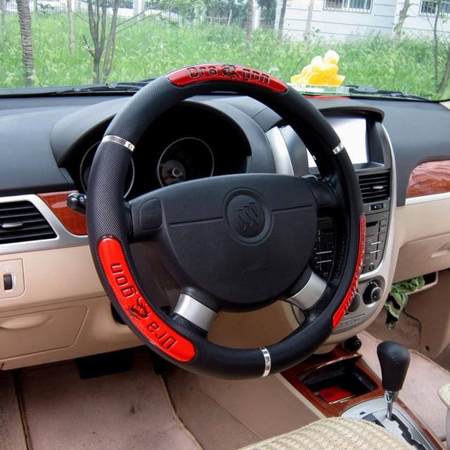 diy durable volant de voiture couvre voiture style cuir artificiel camion intrieur accessoires de voiture