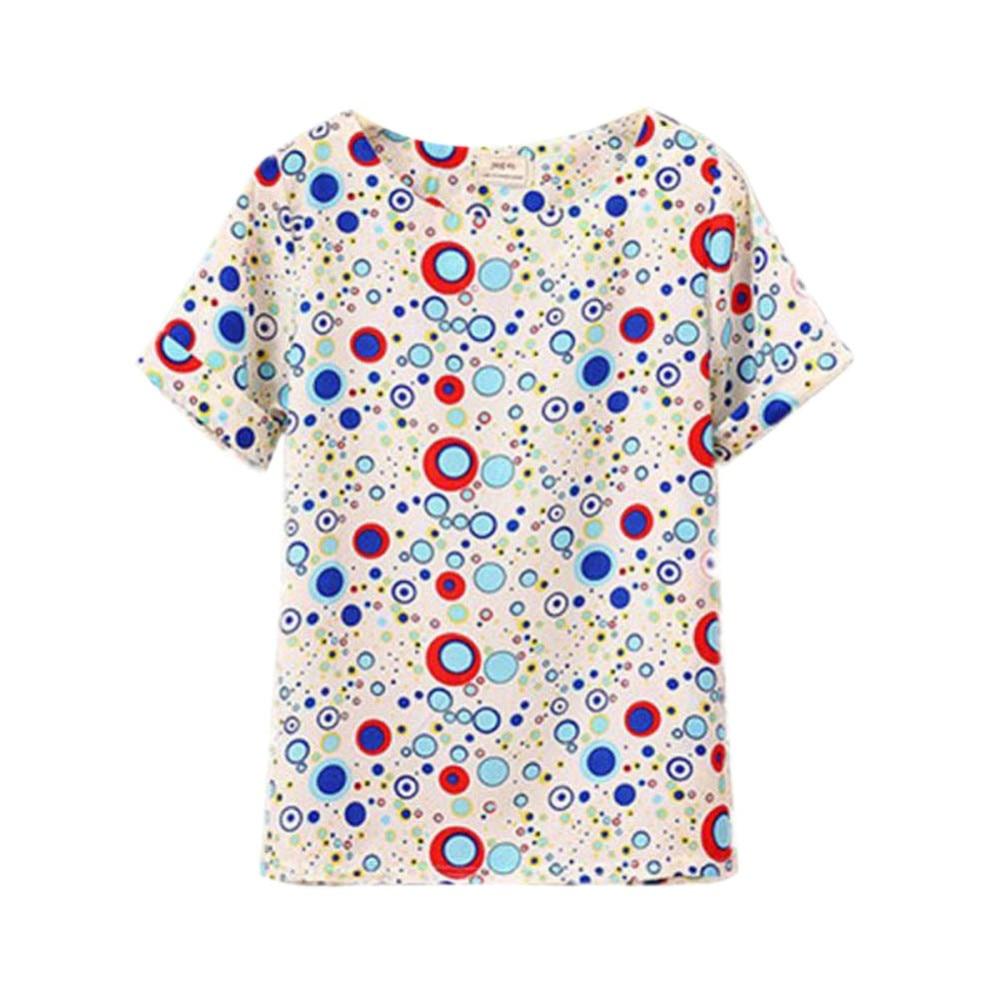 HTB1vwiBRXXXXXbfXXXXq6xXFXXXo - T-shirts O Neck Bird Printed Women Top Colorful Short Sleeve
