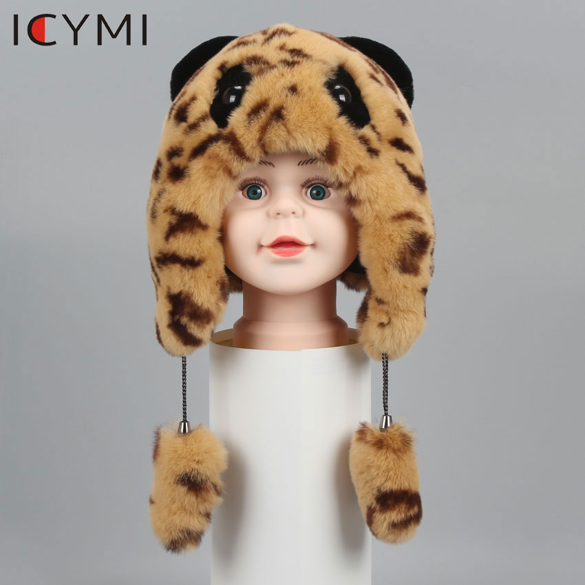 ICYMI Hat Earmuffs Rabbit-Fur-Caps Children Bomber-Hats Girls Winter Boys Cute Warm-Fur
