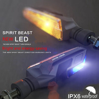 SPIRIT BEAST NEW Motorcycle Turn Signals Waterproof Turn Lights LED Direction Lamp Decorative Motocross Lights Daytime