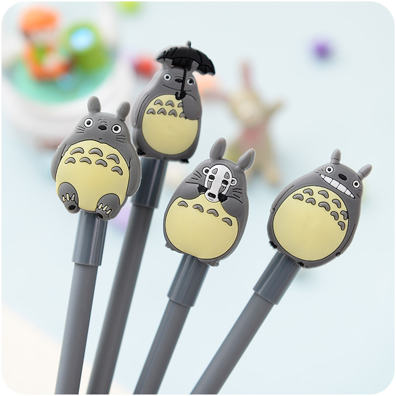 4 PCS / lot Novelty lovely My Neighbor Totoro Gel Ink Pen Papelaria Escolar School Office Supply Promotional Gift Signature Pens 2 pcs pack various lovely cat magnet bookmark paper clip school office supply escolar papelaria gift stationery