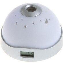 7 Colors LED Change Star Night Light Magic Projector Back light Alarm Clock Home Decor Decoration