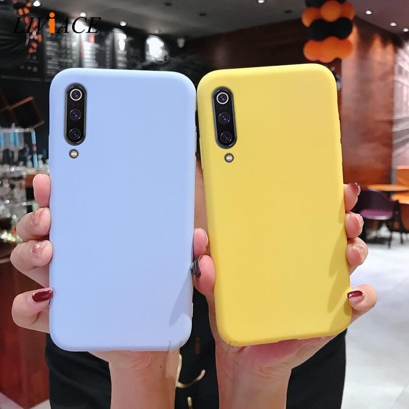 solid candy color silicone case on for xiaomi mi 9 mi9 se 9 lite pro thin tpu phone back cover coque funda for xiaomi9 xiomi 9se(China)