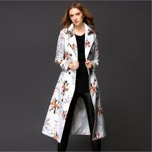 Длинные Пальто Для Женщин Осенью И Зимой Пальто Burb Тренч Европейский Плащ Печати Shitsuke Пальто