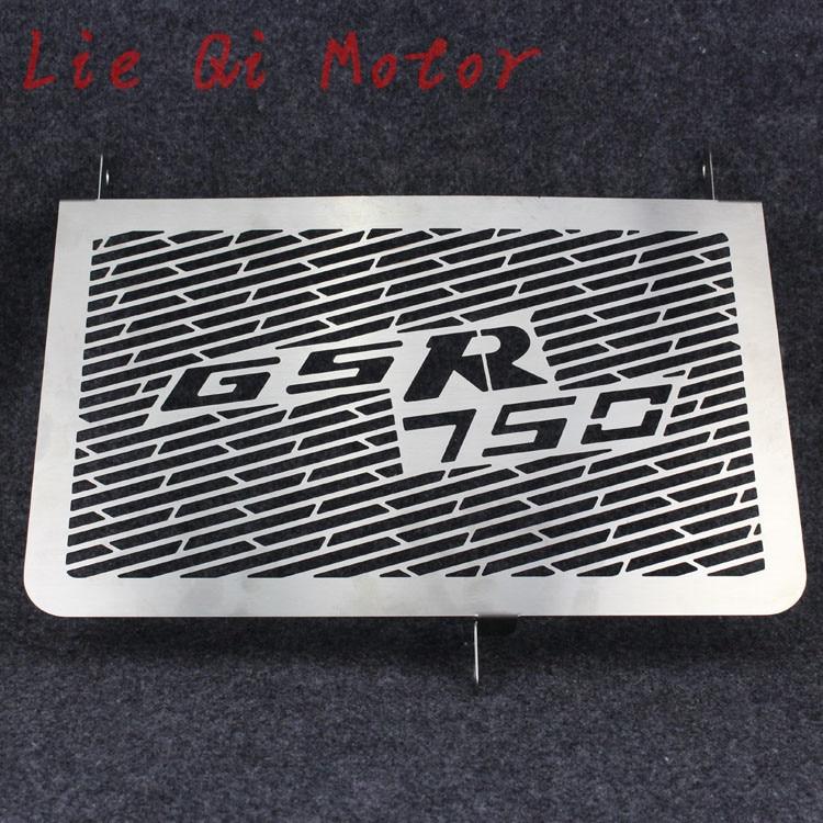 Protecteur de gril de couverture de garde de radiateur d'acier inoxydable de livraison libre approprié pour SUZUKI GSR 750 GSR750 2011-2012-2013-2014-2015
