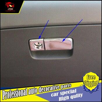 2 PCS estilo Do Carro Caixa de Armazenamento Interior Lidar Com Cobertura de Guarnição Para Honda CRV 2015 2016 Caixa De Armazenamento de Alça de Lantejoulas Decoração acessórios