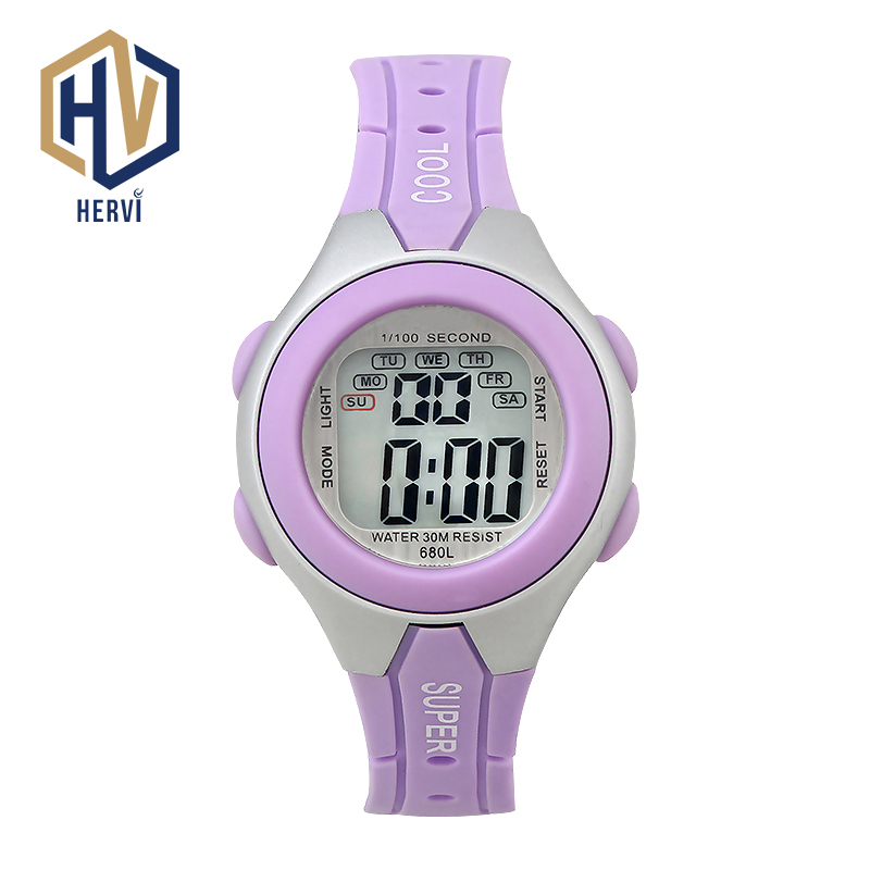 2019 Top Brand Women Automatic Sport Watch Female Fashion Waterproof Watch Electronic Female Digital Watches Clock Reloj H680L-A