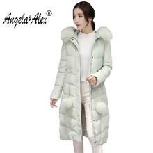 2017 New Winter Jacket Women Hooded Thicken Coat Female Fashion Warm Outwear Down Cotton-Padded Fox Fur Collar Coat Parka