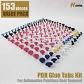 153pc PDR Glue Tabs Painless Dent Repair Tools PDR Super Tab Glue Tabs - Variety Pack TAB-153