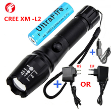 LED Rechargeable Flashlight CREE XM - L2 light 3800 lumens 18650 battery Outdoor camping Cycling Powerful led flashlight