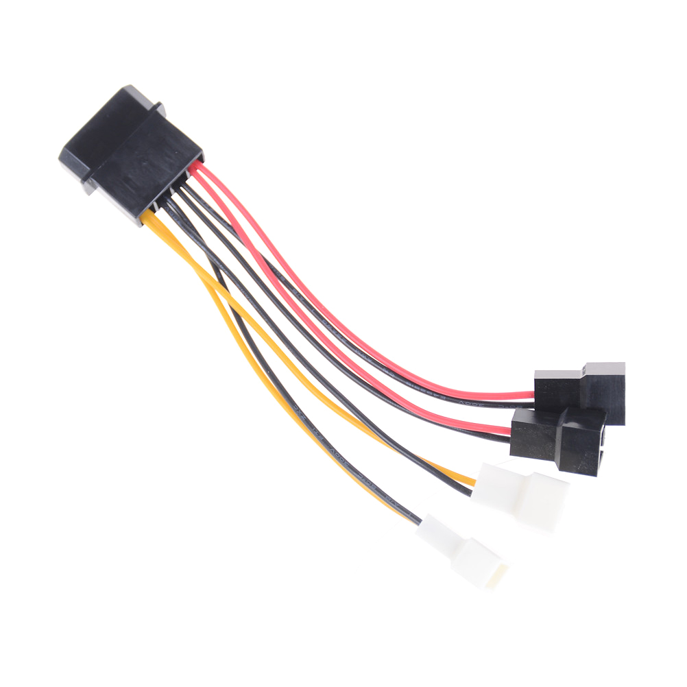 4 pin molex to 3 pin fan power cable adapter connector computer cooling fan cables 12v 5v dc for cpu pc case fan 1pcs in connectors from lights lighting  [ 1002 x 1002 Pixel ]