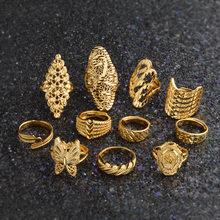 Gold Ring for Women Gold Color Africa Ring Ethiopian Jewelry Arab India Nigeria Middle East Metal Free Size Rings #034606(China)