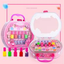 Children's Makeup Toy Tote Bag Storage Princess Stage Show Little Girl Nail Polish Girls Toys speelgoed juguetes(China)