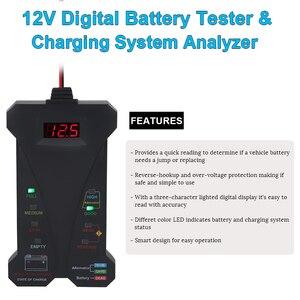 Image 4 - 12V araba pil test cihazı dijital voltmetre ve şarj sistemi analizörü alternatör test cihazı motosiklet otomotiv tanılama aracı
