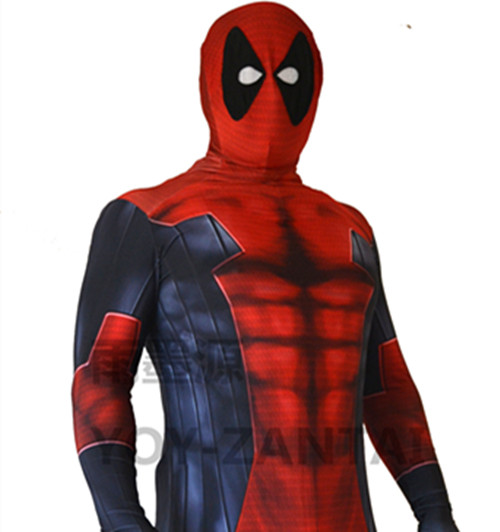 3D Printing Deadpool Costume Adult With Muscle Shade Zentai Suit ...