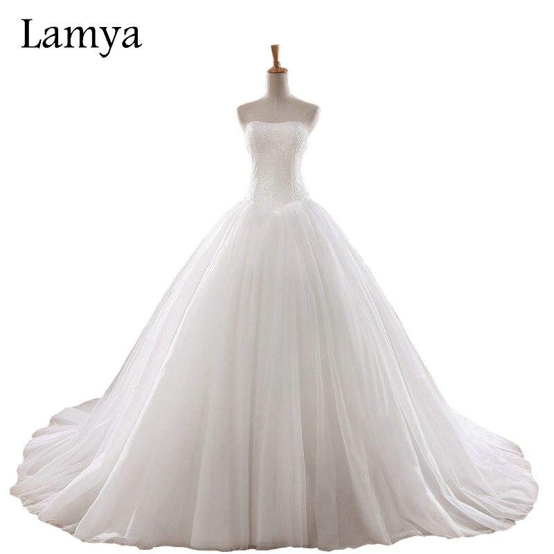 Lamya 0 8m Court Train Wedding Dress 2018 Cheap Celebrity