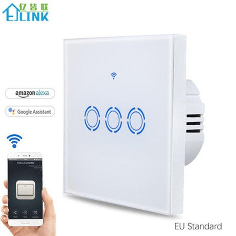 eWelink APP WiFi Remote Smart Switch EU Type 1 2 3 Gang