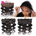 Brazilian lace frontals ear to ear 13x4 lace frontal closure with baby hair bleached knots brazilian lace frontal closure piece