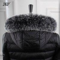 100%天然リアルフォックスファーの襟女性スカーフ冬コートネックキャップ長い暖かい本物のリアル毛皮スカーフ12-31