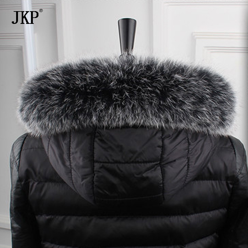 100% Natural Real Fox Fur Collar Wanita Scarf Musim Dingin Coat Neck Cap Panjang Hangat Asli Nyata Syal Bulu 12-31