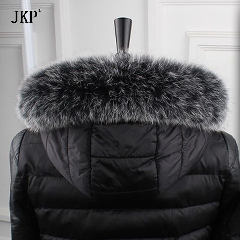 100% natürliche echte Fuchspelzkragen Frauen Schal Wintermantel Neck Cap lange warme echte Pelz Schal 12-31