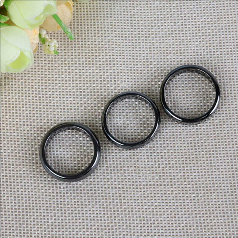 Nowa moda wysokiej jakości 6mm szerokość Faceted hematyt pierścień kobiety mężczyźni biżuteria