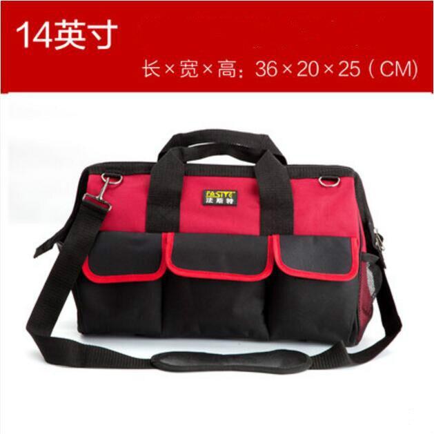 Sac à outils FASITE Combo ceinture organisateur professionnel électriciens pochette à outils sac à outils rouge