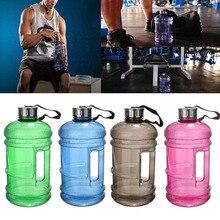 2.2L Großraum Wasserflaschen Outdoor Sports Gym Halbe Gallonen Fitnesstraining Camping Lauf Workout Wasserflasche Raum Tasse