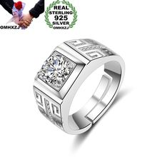 925-Sterling-Silver Ring Wedding-Gift Wholesale Zircon Square White Fashion European