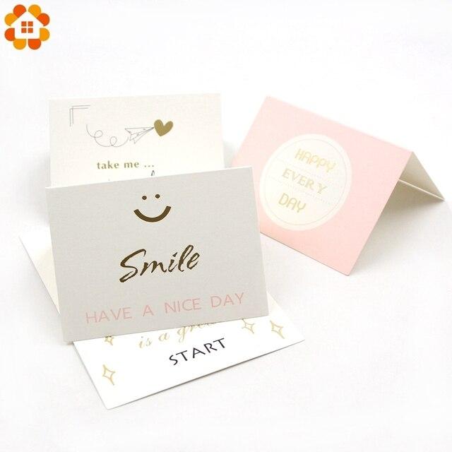 5pcs Mini Diy Paper Blank Card Diy Graffiti Word Cards Gift Greeting