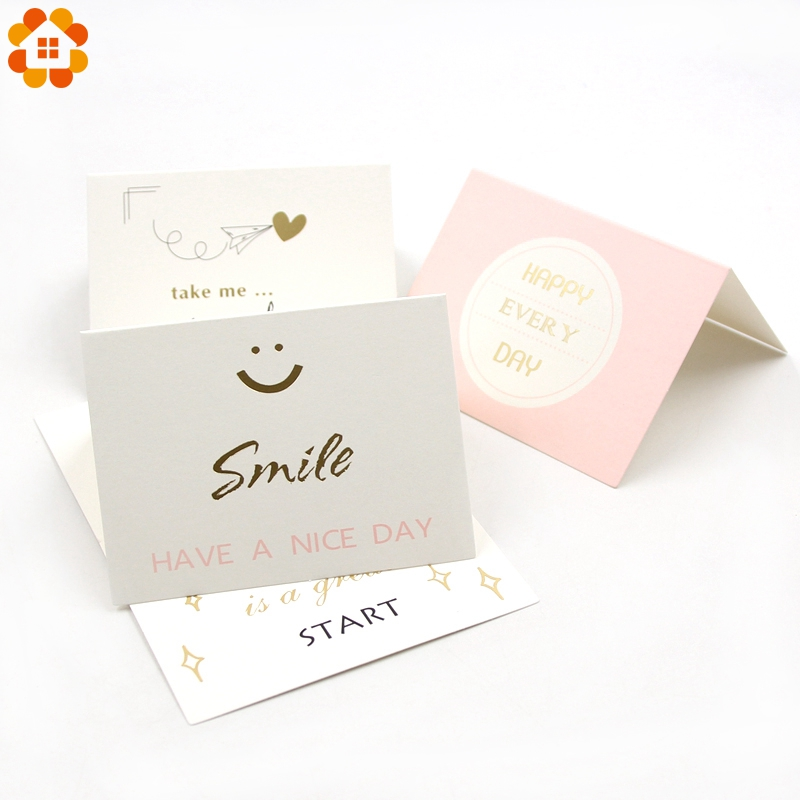 5PCS Mini DIY Paper Blank Card DIY Graffiti Word Cards Gift Greeting Cards Birthday Gift Card With Envelop Wedding Party Decor