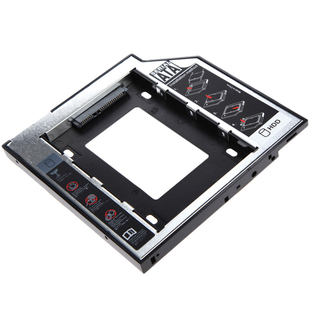 Universal 2.5 2nd 12.7mm SSD HD SATA Hard Disk Drive HDD Caddy Adapter Bay for 2.5 2