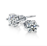 New Arrival Free Shipping Cubic Zirconia Stud Earrings S925 Silver Earring Birthday Gift Christmas Gift