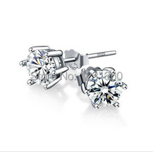 Top quality Cubic Zirconia Stud Earrings, Sterling 925 silver earring for women men,birthday gift christmas gift free shipping