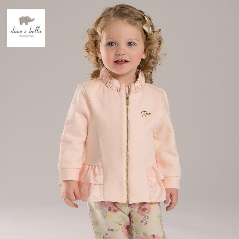 DB3458 davebella spring autumn new baby girls  coat infant clothes toddle coat girls  kids jacket children