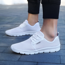 Купить с кэшбэком breathable men women sneakers 2019 new spring Ultralight running shoes for women Mesh men Shoes Big Plus Size 48 Lace up Shoes