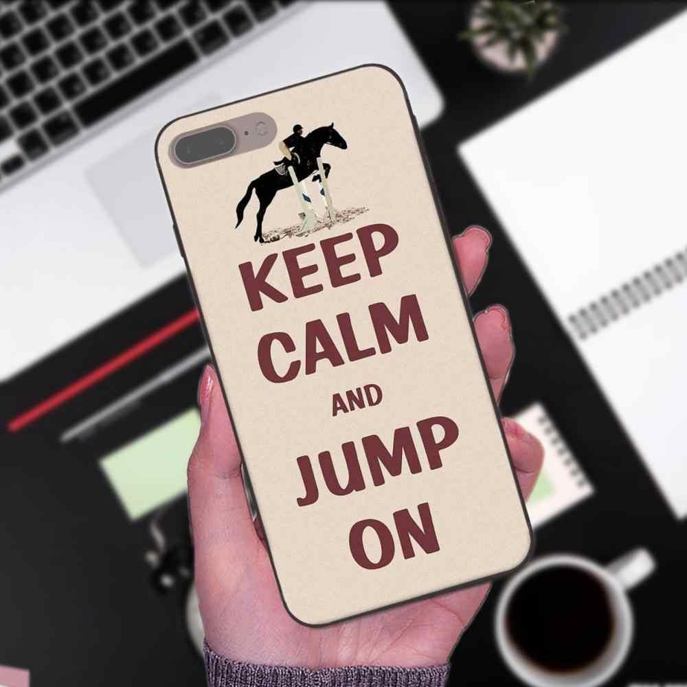 ТПУ Модный чехол для Apple iPhone 4 4S 5 5S SE 6 6 S 7 8 плюс X XS Max XR 2019 Keep Calm And верхом на лошади пони