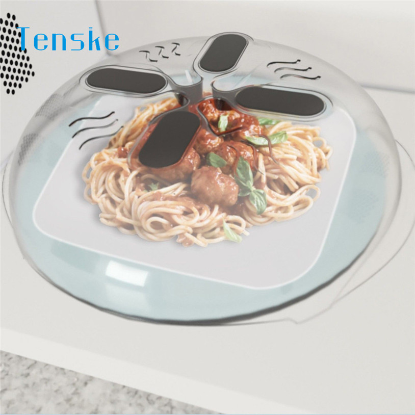Lids New Food Splatter Guard Microwave Hover Anti-Sputtering Cover u70808