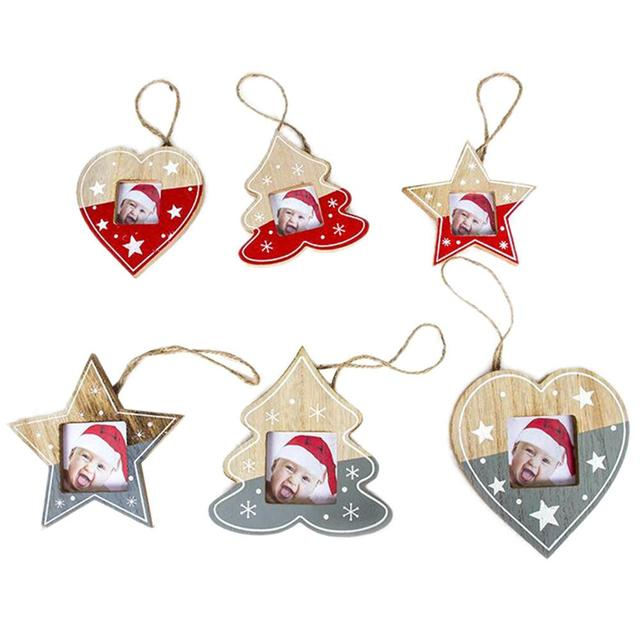1pcs christmas photo frame pendant christmas tree picture hanger decoration christmas ornaments