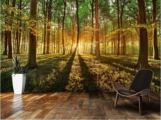 Custom landscape wallpaper,Spring forest,3D photo mural for living room bedroom kitchen background wall waterproof PVC wallpaper  free shipping pine forest 3d landscape background wall living room bathroom bedroom home decoration wallpaper mural