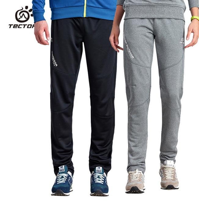 ФОТО Running Pants Men Comfortable Pure Color Knit Outdoor Sport Pants Climbing Trekking Fishing Run Football Fitness Hiking Pant New