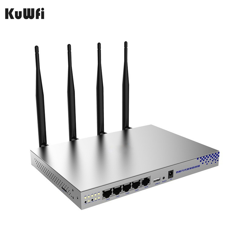 1200Mbps 2.4GHz 5.0GHZ Dualband 802.11AC Gigabit OpenWrt WiFi Wireless Router MT7621A Chipset Gigabit Port With English Firmware