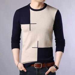 2019 Autumn Casual Men's Sweater O-Neck Slim Fit Knittwear Mens Sweaters Pullovers Pullover Men Pull Homme M-3XL 1