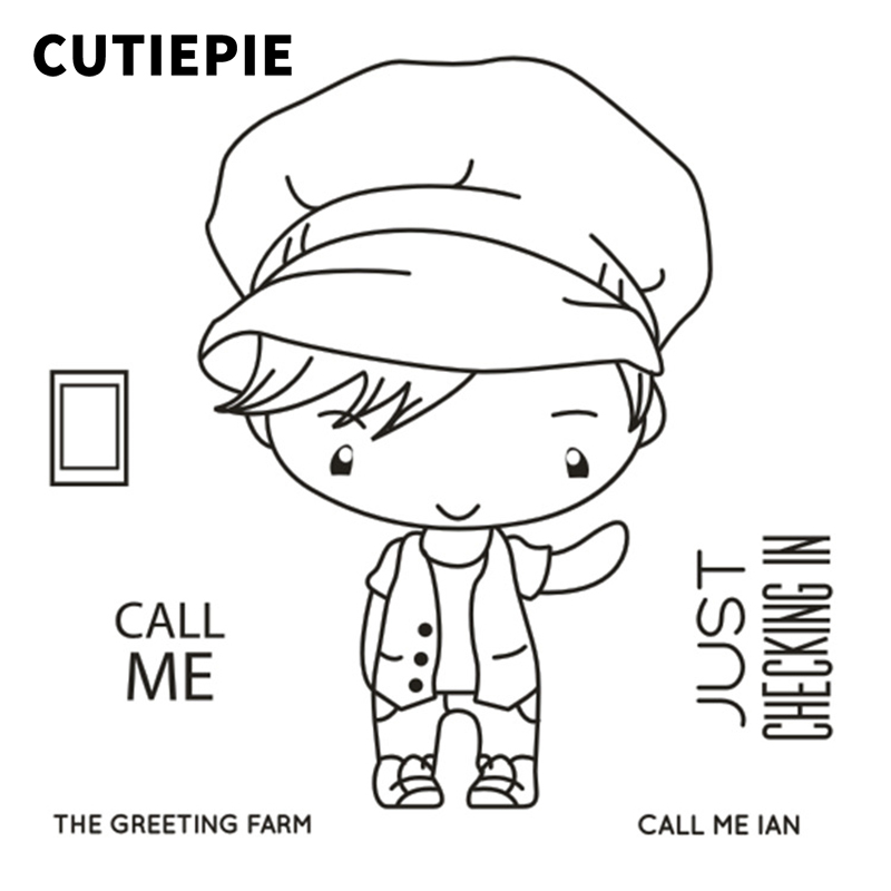 Call Me Cute Boy Transparent Clear Stamps for Scrapbooking DIY Silicone Seals Photo Album Embossing Folder Paper Make Decoration