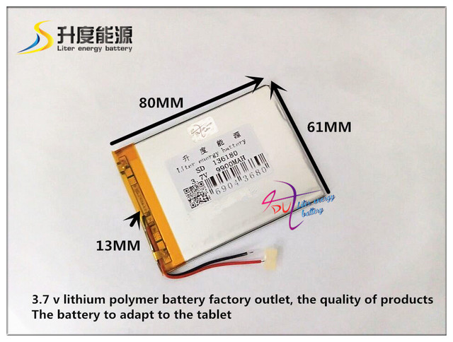 3.7V 9900mAH SD 136180 ( polymer lithium ion / Li-ion battery ) for tablet pc,Power bank,E-BOOK